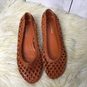 Ipanema Woven leather ballet flats